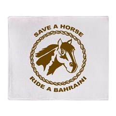 Ride A Bahraini Throw Blanket