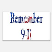 USA - Remember 9-11 Rectangle Decal