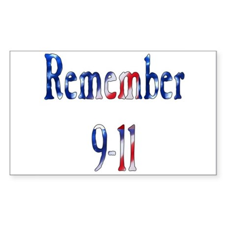 USA - Remember 9-11 Rectangle Sticker