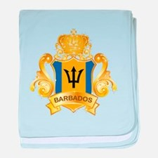 Gold Barbados baby blanket