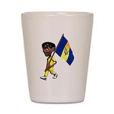 3D Barbados Shot Glass