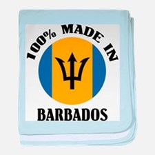 Made In Barbados baby blanket