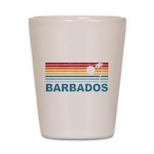 Retro Barbados Palm Tree Shot Glass