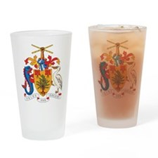 Barbados Coat Of Arms Pint Glass