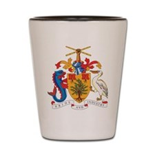 Barbados Coat Of Arms Shot Glass