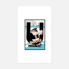 U-Boats Out War Poster Sticker (Rectangle)