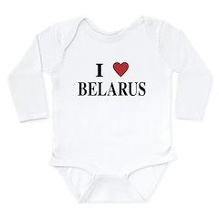 I Love Belarus Long Sleeve Infant Bodysuit