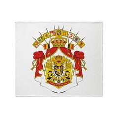 Belgium Coat Of Arms Throw Blanket