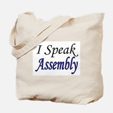 """I Speak Assembly"" Tote Bag"