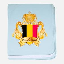 Gold Belgium baby blanket