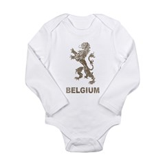 Vintage Belgium Long Sleeve Infant Bodysuit