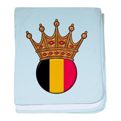King Of Belgium baby blanket