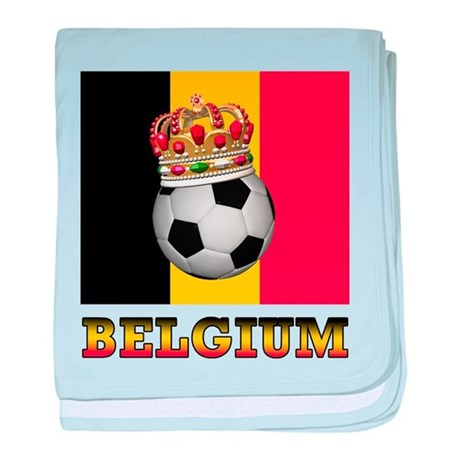 Belgium Football baby blanket