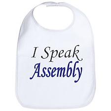 """""""I Speak Assembly"""" Bib"""