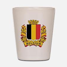 Stylized Belgium Crest Shot Glass
