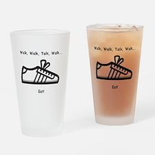 Walk, Talk, Eat Pint Glass