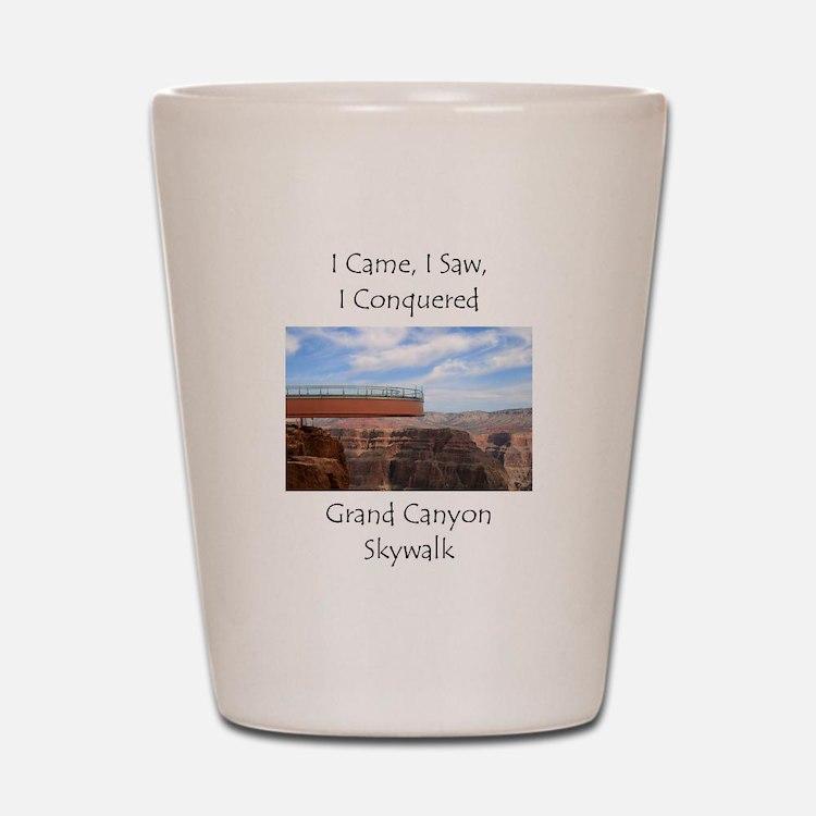 Grand Canyon Skywalk Survivor Shot Glass
