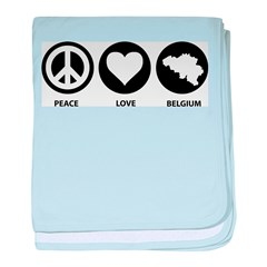 Peace Live Belgium baby blanket