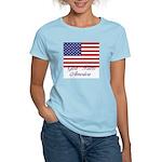 God Bless America Women's Pink T-Shirt