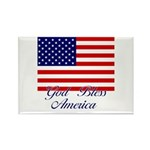 God Bless America Rectangle Magnet (10 pack)