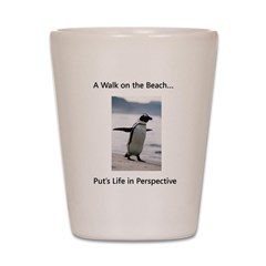 Penguin Walk Shot Glass