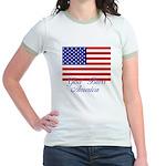 God Bless America Jr. Ringer T-Shirt