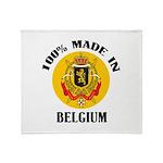 100% Made In Belgium Throw Blanket