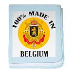 100% Made In Belgium baby blanket