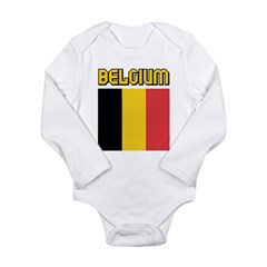 Belgium Long Sleeve Infant Bodysuit