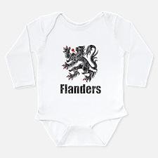 Vintage Flanders Long Sleeve Infant Bodysuit