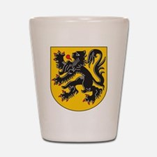 Flanders Coat Of Arms Shot Glass
