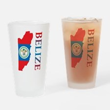 Map Of Belize Pint Glass