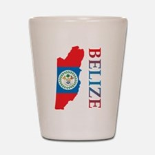 Map Of Belize Shot Glass