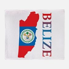 Map Of Belize Throw Blanket
