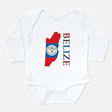 Map Of Belize Long Sleeve Infant Bodysuit