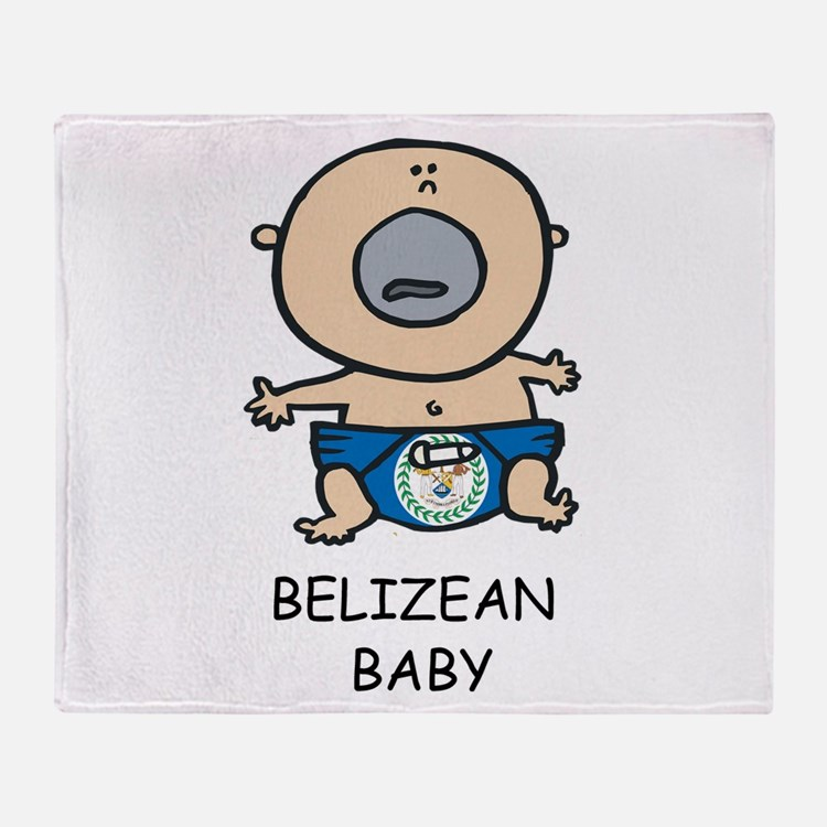 Belizean Baby Throw Blanket