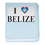 I Love Belize baby blanket