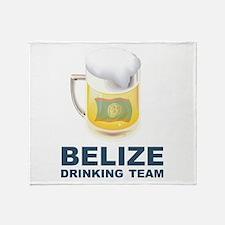 Belize Drinking Team Throw Blanket