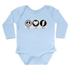 Peace Love Belize Long Sleeve Infant Bodysuit