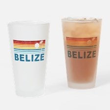 Retro Belize Palm Tree Pint Glass