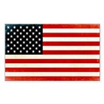 American Flag Sticker (Rectangle 50 pk)