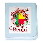 Butterfly Benin baby blanket
