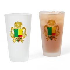 Gold Benin Pint Glass