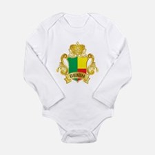 Gold Benin Long Sleeve Infant Bodysuit
