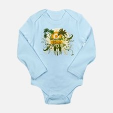 Palm Tree Benin Long Sleeve Infant Bodysuit