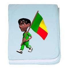 3D Benin baby blanket