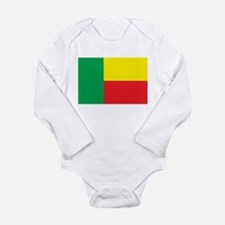 Benin Flag Long Sleeve Infant Bodysuit