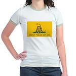 Don't Tread On Me (Gadsden Flag) Jr. Ringer T-Shir