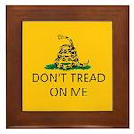 Don't Tread On Me (Gadsden Flag) Framed Tile