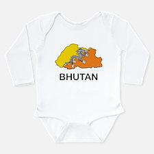 Map Of Bhutan Long Sleeve Infant Bodysuit